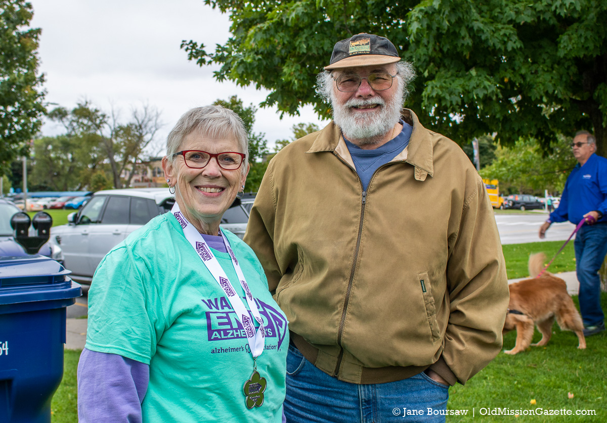 Wendy Warren and Steve Lewis at the 2019 Walk to End Alzheimer's in Traverse City, Michigan | Jane Boursaw Photo