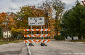 """""""Road Closed"""" sign at the corner of Boursaw Road and Bluff Road   Jane Boursaw Photo"""