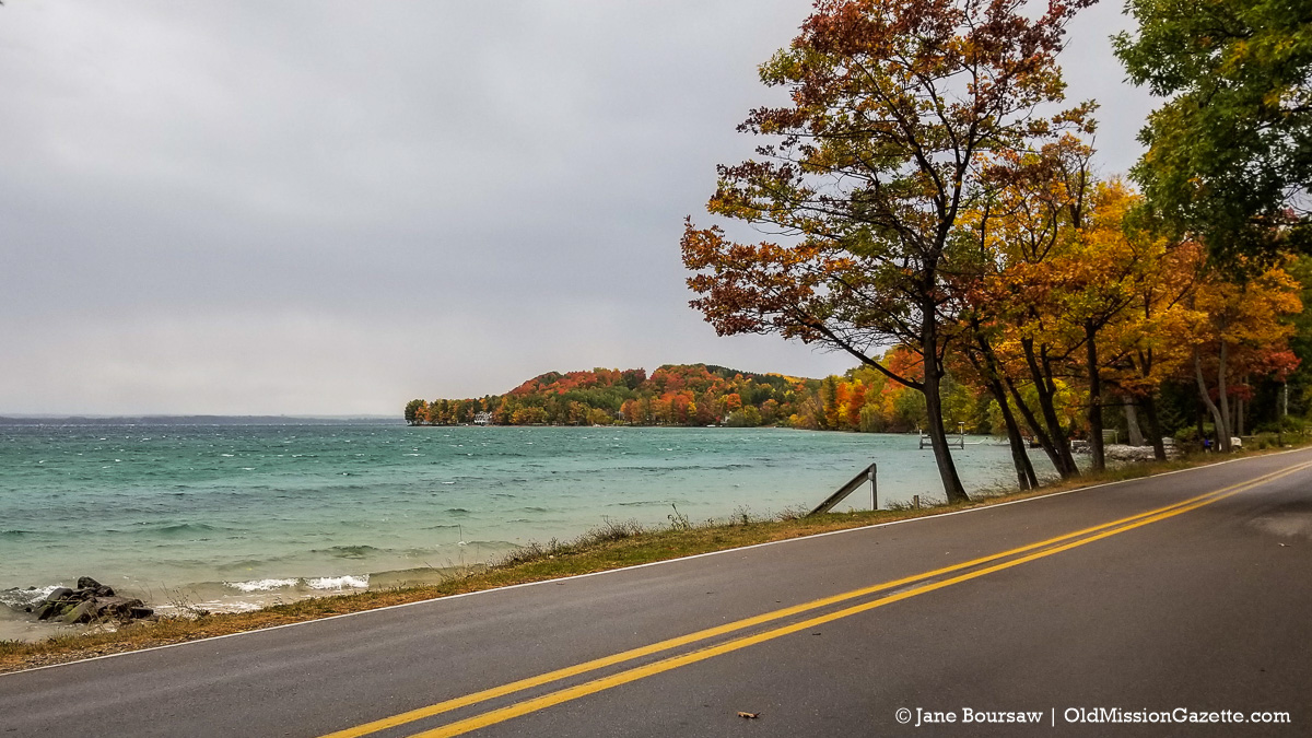 Fall Colors on the Old Mission Peninsula; Bluff Road about a half-mile south of Blue Water Road | Jane Boursaw Photo