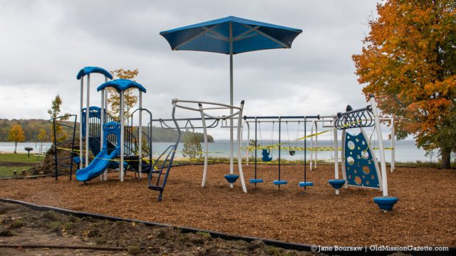 New Play Structure at Haserot Beach on the Old Mission Peninsula | Jane Boursaw Photo