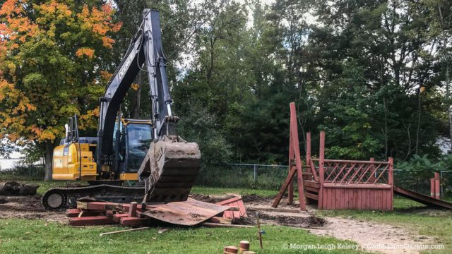 Haserot Beach Playground Torn Down on the Old Mission Peninsula | Morgan Leigh Kelsey Photo