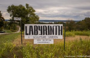Luke Dobron's Labyrinth on Blue Water Road on the Old Mission Peninsula | Jane Boursaw Photo