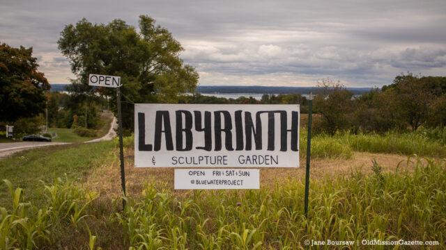 Luke Dobron's Labyrinth on Blue Water Road on the Old Mission Peninsula | Jane Boursaw Photo