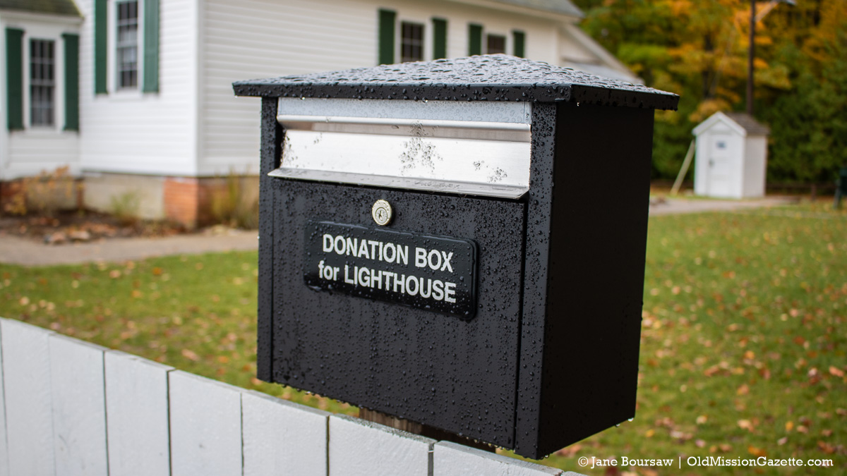 Donation box for Mission Point Lighthouse | Jane Boursaw Photo