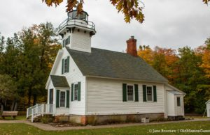 Mission Point Lighthouse turns 150 and gets new shutters | Jane Boursaw Photo