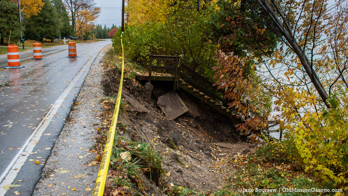 Peninsula Drive washed out north of Gray Road after torrential downpour | Jane Boursaw Photo