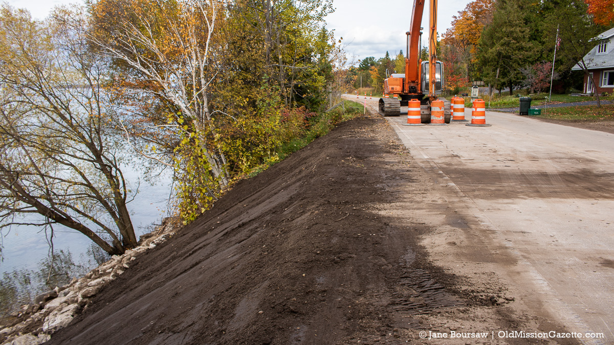 Peninsula Drive wash-out repaired north of Gray Road after torrential downpour | Jane Boursaw Photo