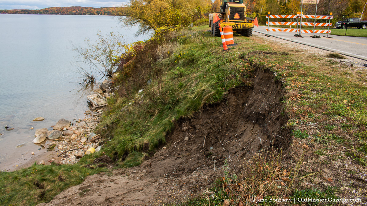 Peninsula Drive washed out and shut down after torrential downpour | Jane Boursaw Photo