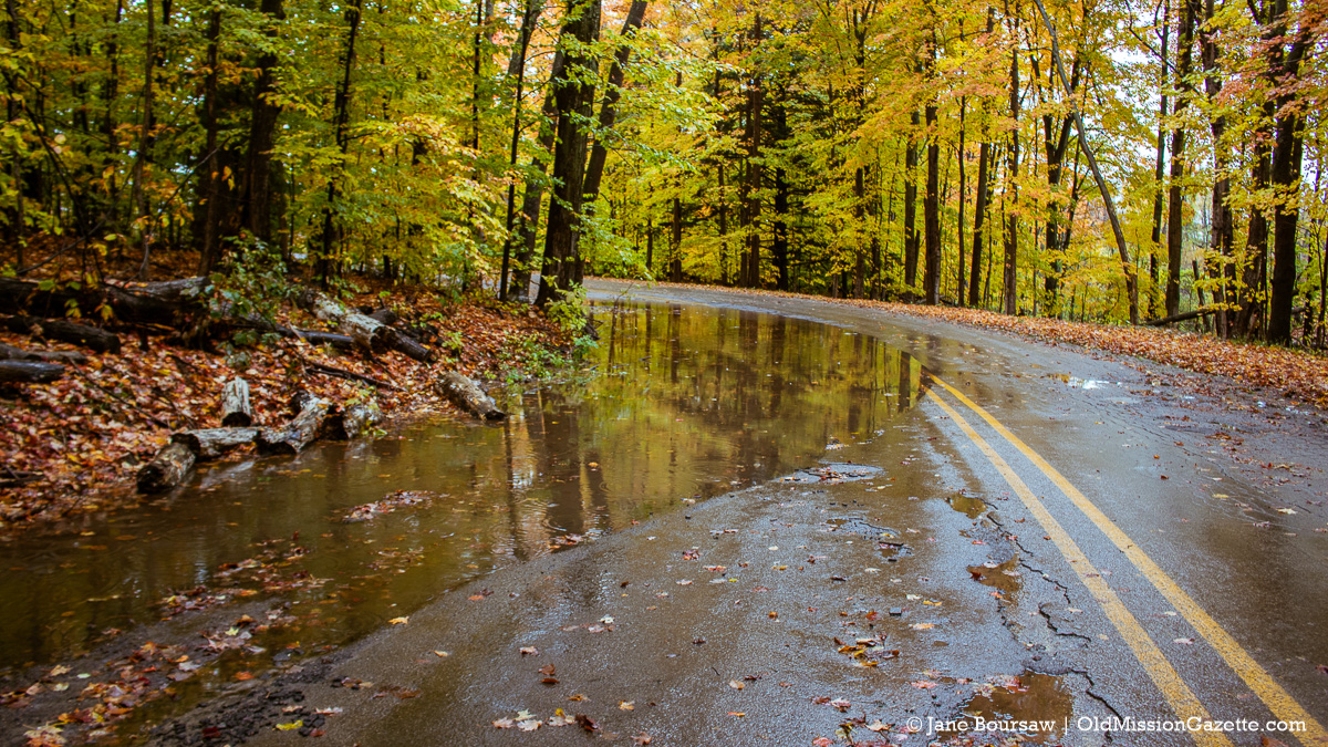Swaney Road water after torrential downpour | Jane Boursaw Photo