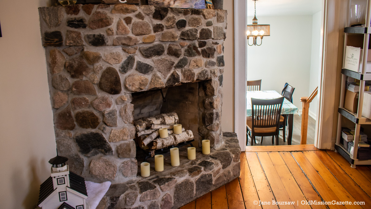 Fireplace at Mission Point Lighthouse | Jane Boursaw Photo