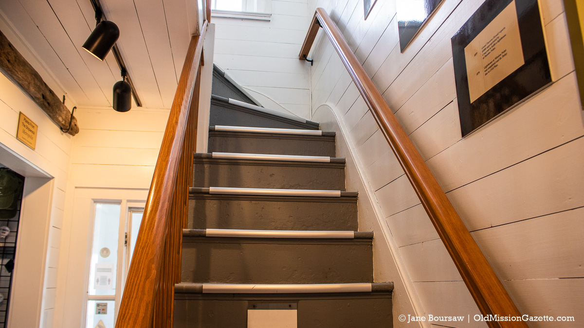 New paint on the stairs leading to the light at Mission Point Lighthouse | Jane Boursaw Photo