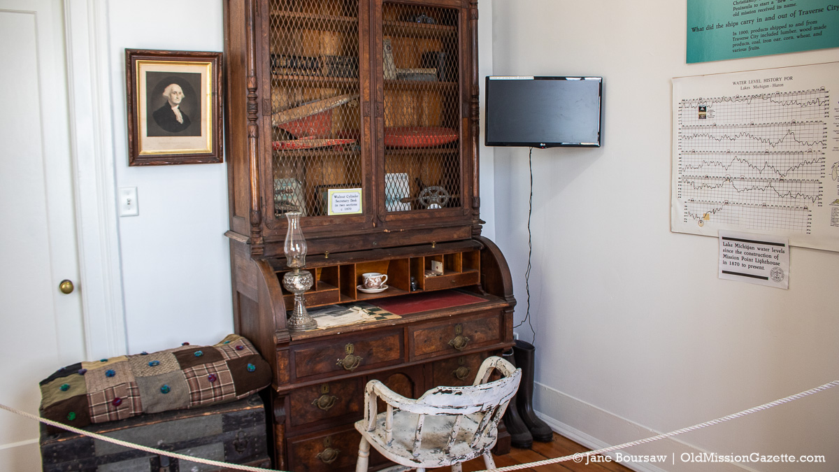 Lighthouse Keeper's Office at Mission Point Lighthouse | Jane Boursaw Photo