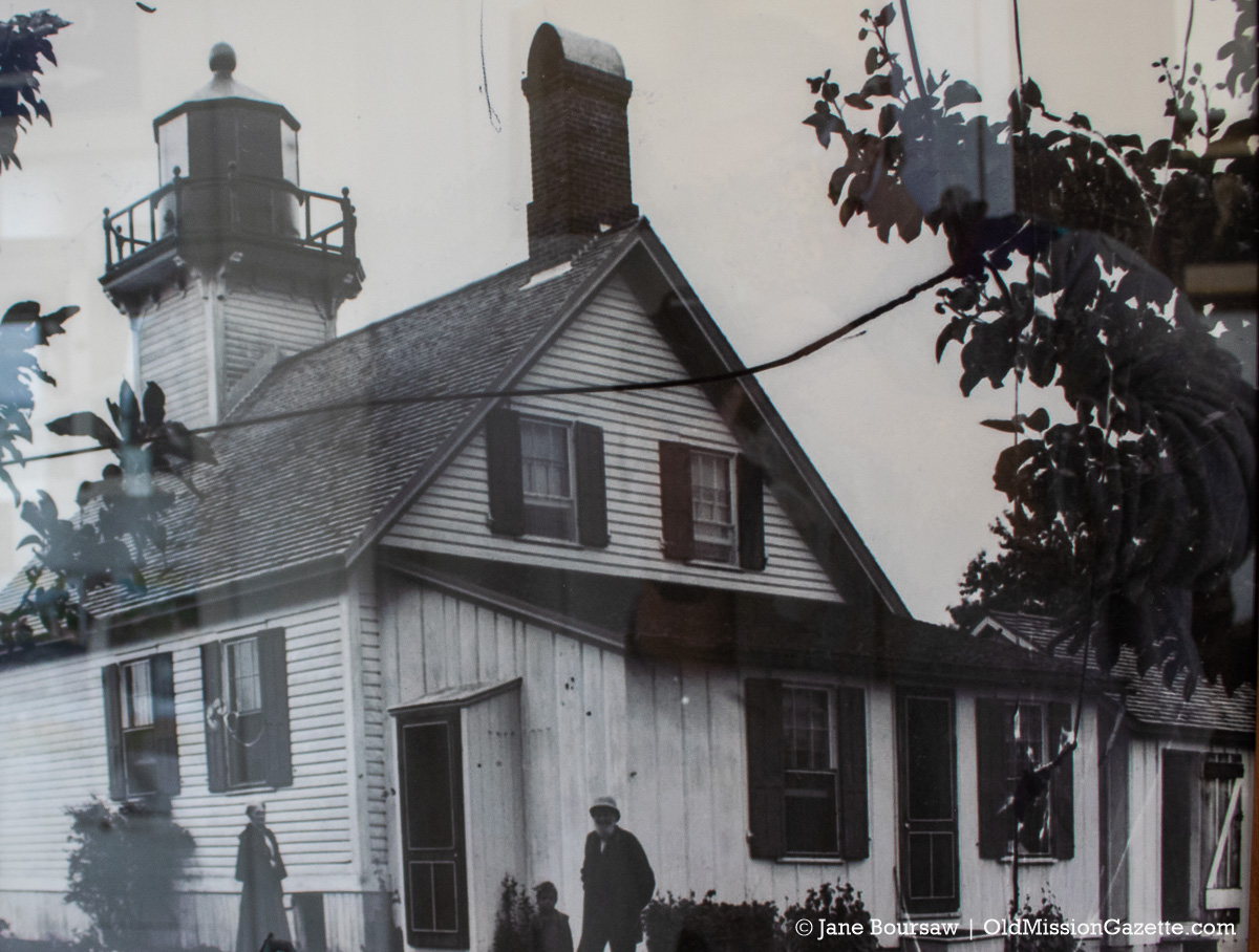 Vintage photo of Mission Point Lighthouse on the Old Mission Peninsula | Jane Boursaw Photo (of a photo)