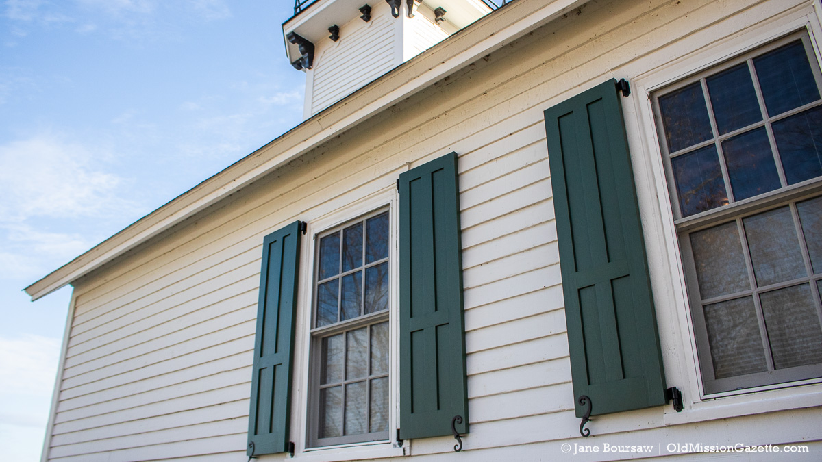 New shutters installed at Mission Point Lighthouse after 90 years | Jane Boursaw Photo