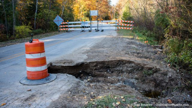 Neahtawanta Road closed on the Old Mission Peninsula | Jane Boursaw Photo