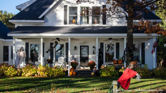Lots of spooky goodness on this house on Neahtawanta Road | Jane Boursaw Photo
