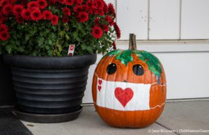 Halloween at Peninsula Community Library (I believe Karen Rieser is the fabulous pumpkin artist) | Jane Boursaw Photo