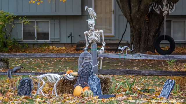 Halloween comes to Pam and John DeVol's house in Old Mission | Jane Boursaw Photo