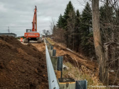 Road Work on The Hogsback, Center Road on the Old Mission Peninsula | Jane Boursaw Photo
