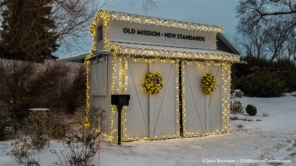 Holiday Lights 2020 on the Old Mission Peninsula; Local Yokels Farm Stand | Jane Boursaw Photo