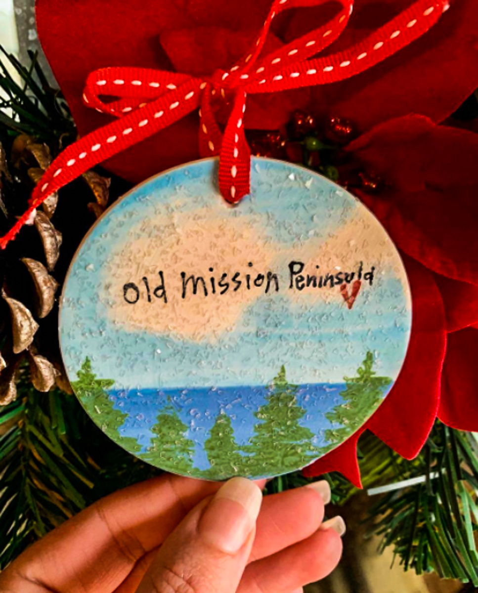 Old Mission Peninsula School 2020 Christmas Ornament | OMPS Photo
