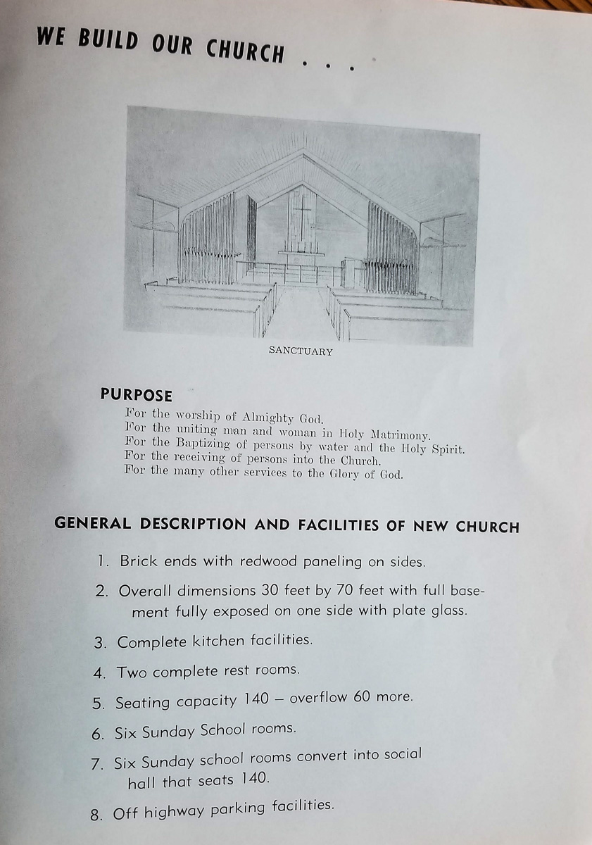 Ogdensburg UMC; building the new church on the Old Mission Peninsula, 1957   Mary Johnson Archives