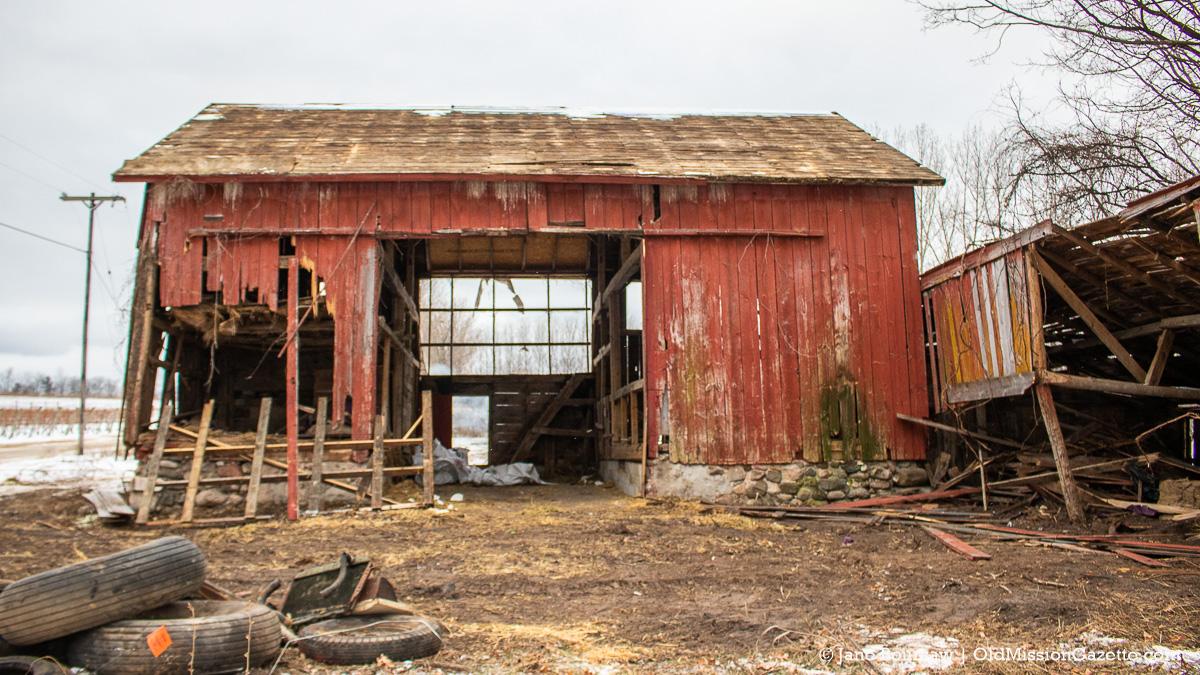 Historic Ted Ayers Barn demolished on the Old Mission Peninsula | Jane Boursaw Photo