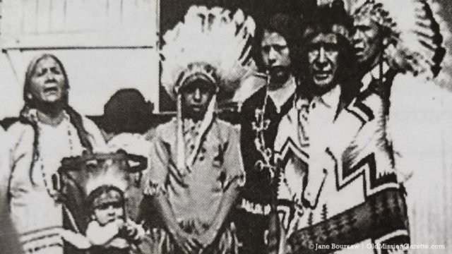 Native Americans attend the dedication of the Old Mission School and Chapel, 1939 | A Century of Service Photo