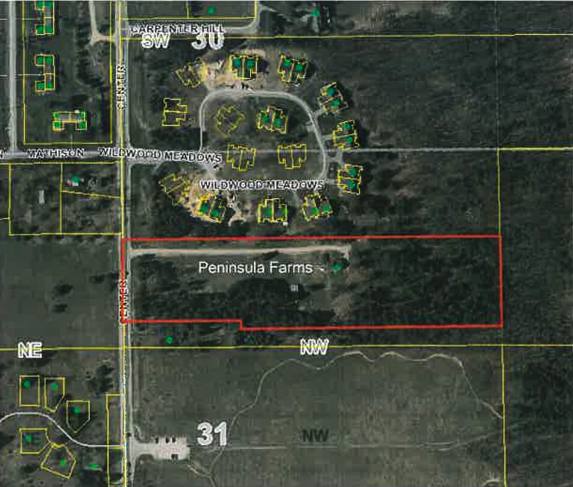 Peninsula Farms Condo Subdivision Site Plan on the Old Mission Peninsula