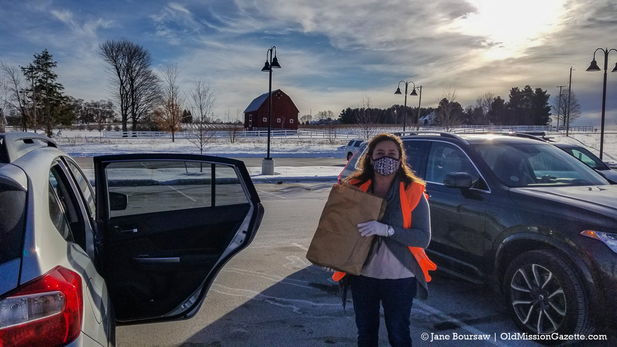 Lovely PCL Staffer Amber Haddix with Curbside Service | Jane Boursaw Photo