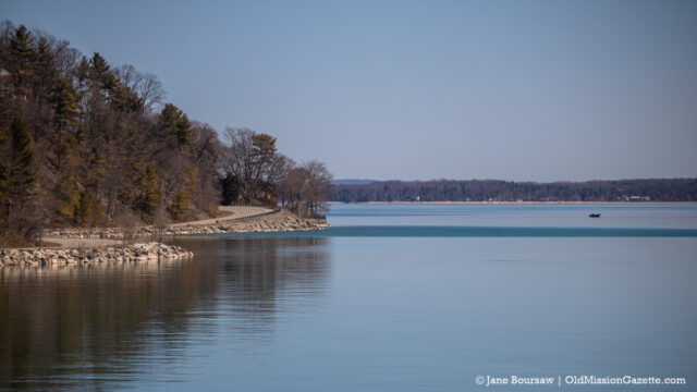 Fishermen on East Bay off The Bluffs on Bluff Road; Old Mission Peninsula | Jane Boursaw Photo