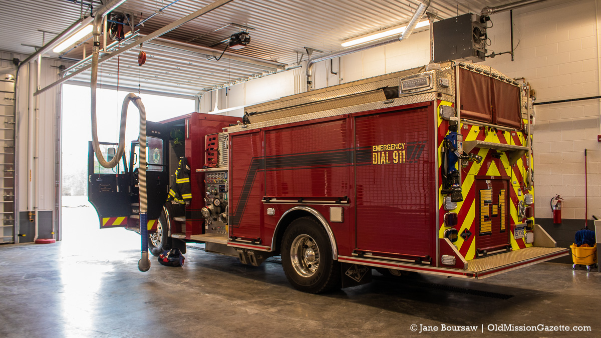 Fire Station 3 Ribbon-Cutting Ceremony on March 22, 2021; Vehicle Area   Jane Boursaw Photo