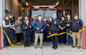 Peninsula Fire Department; Ribbon-Cutting Ceremony, Fire Station 3, March 22, 2021 | Jane Boursaw Photo