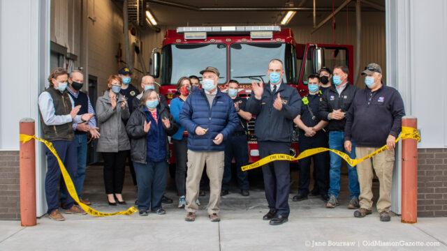 Peninsula Fire Department; Ribbon-Cutting Ceremony, Fire Station 3, March 22, 2021   Jane Boursaw Photo