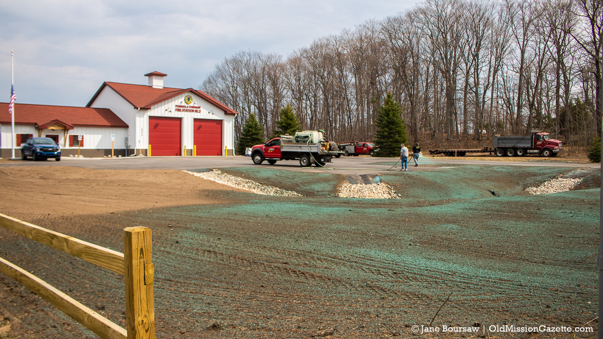 Landscaping at Peninsula Township Fire Department's new Station 3 on the Old Mission Peninsula | Jane Boursaw Photo