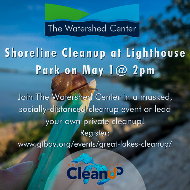 Watershed Center hosts beach cleanup at Mission Point Lighthouse | Watershed Photo
