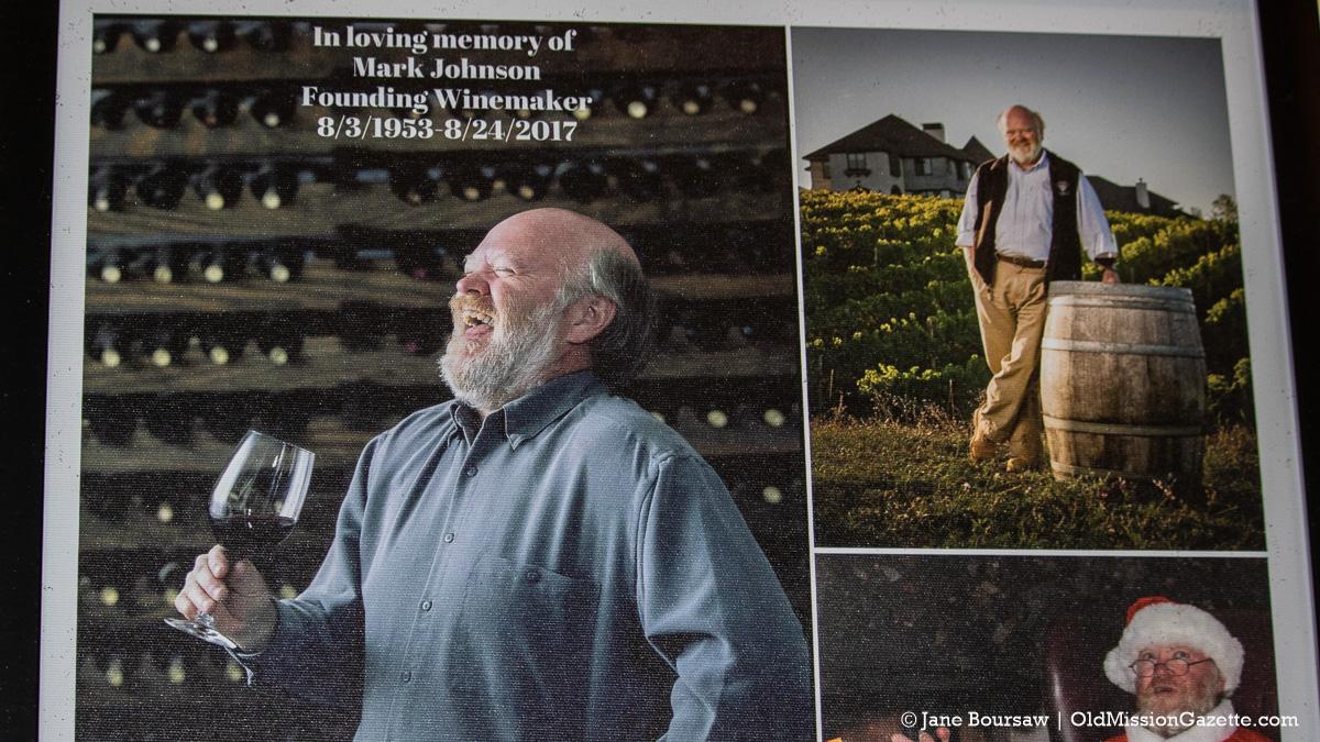 A photo of Mark Johnson, Chateau Chantal winemaker, at Chateau Chantal | Jane Boursaw Photo