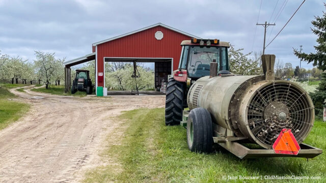 Orchard sprayer on Johnson Farms | Jane Boursaw Photo