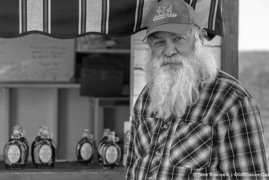 Fred Dohm at his farm stand on Center Road on the Old Mission Peninsula | Jane Boursaw Photo