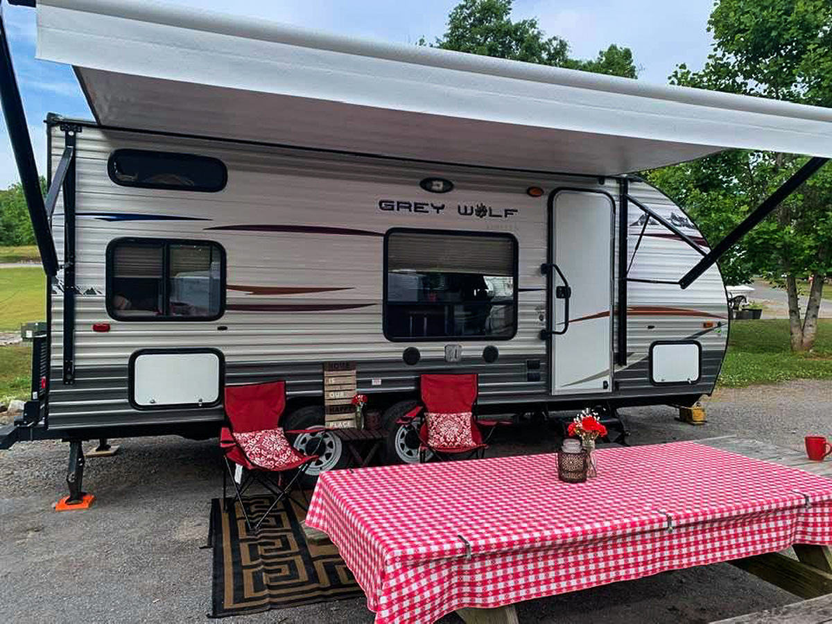 Vicki Shurly's Dispatch from the Road; Their 'Cottage on Wheels'   Vicki Shurly Photo