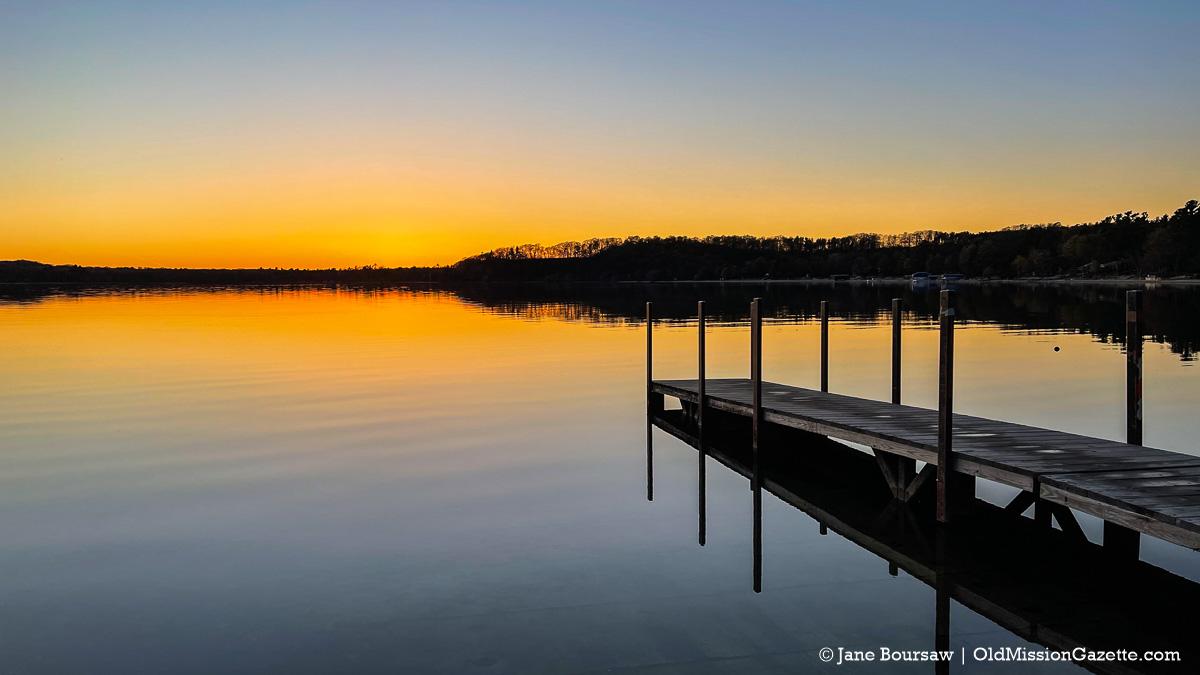 Sunset at Bowers Harbor Boat Launch   Jane Boursaw Photo