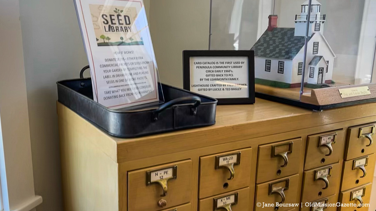 Seed Library at Peninsula Community Library on the Old Mission Peninsula   Jane Boursaw Photo