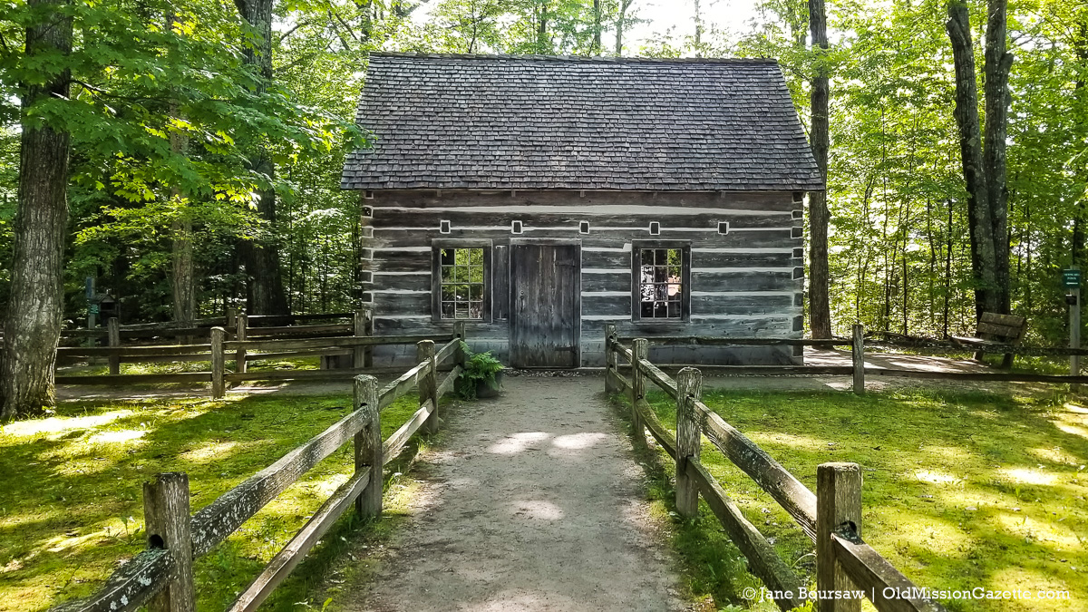 Hessler Log Home near Mission Point Lighthouse on the Old Mission Peninsula; Harvesting History | Jane Boursaw Photo