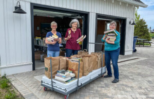 Friends of PCL gang accepting books for the used book sale | Jane Boursaw Photo