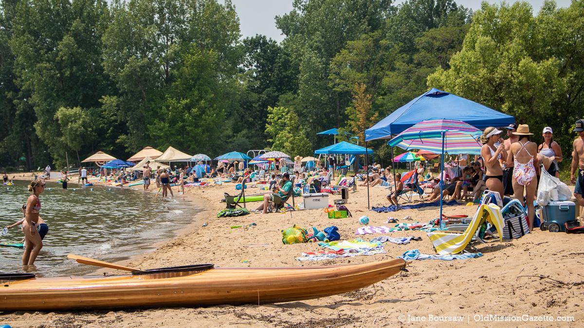 Haserot Beach on July 4, 2021; Old Mission Peninsula   Jane Boursaw Photo