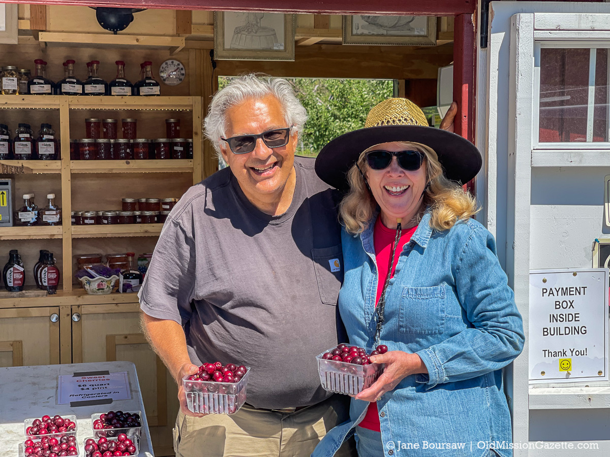 Mary Ann and Mario Tabone at their farm stand on the Old Mission Peninsula | Jane Boursaw Photo