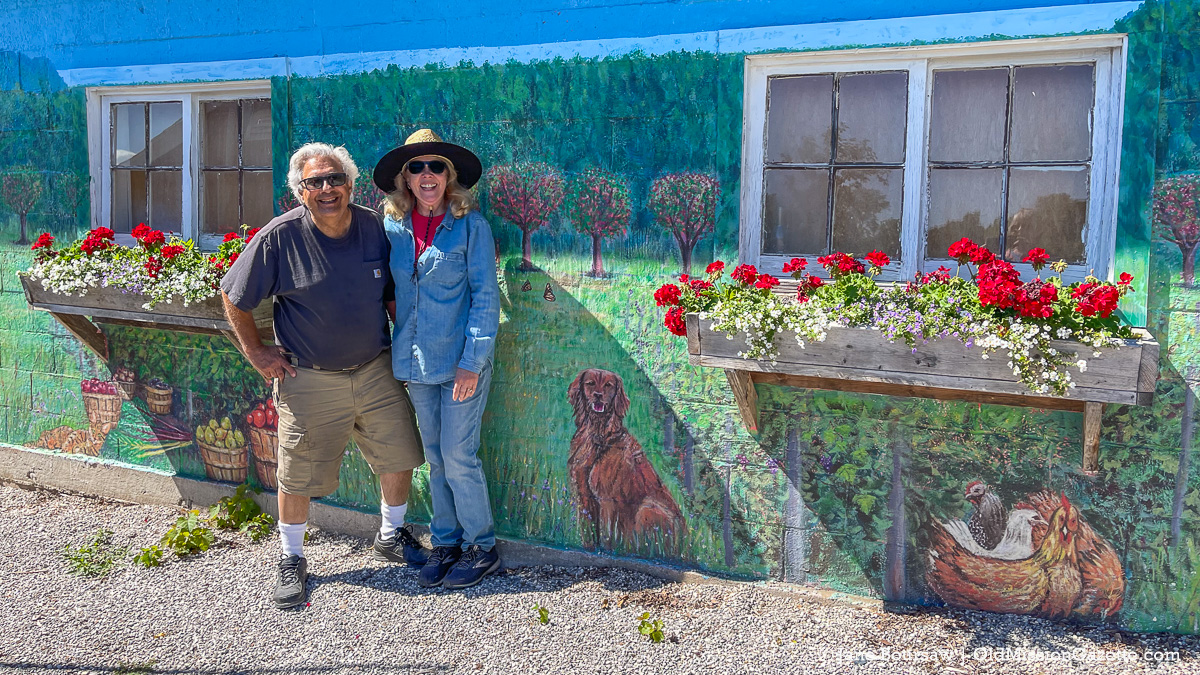 Mary Ann and Mario Tabone at their farm stand on the Old Mission Peninsula   Jane Boursaw Photo