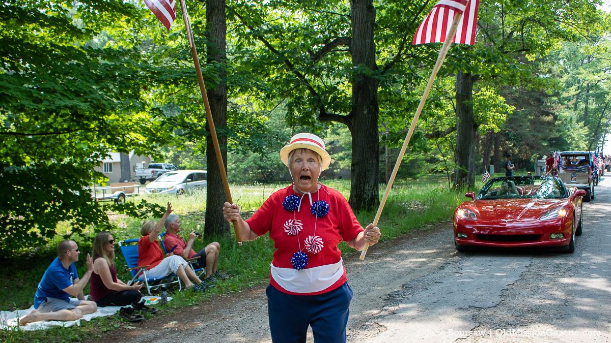 A Patriotic Walk Around Old Mission on July 4, 2021   Jane Boursaw Photo