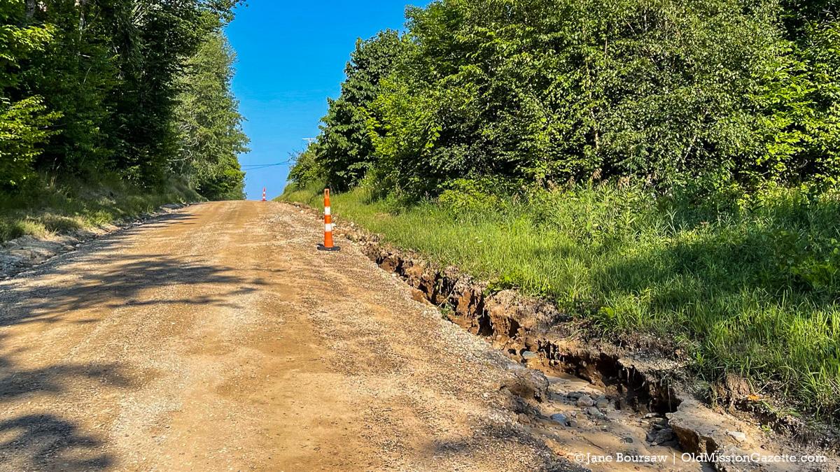 """Rain erosion on Swaney Road """"West""""   Jane Boursaw Photo"""