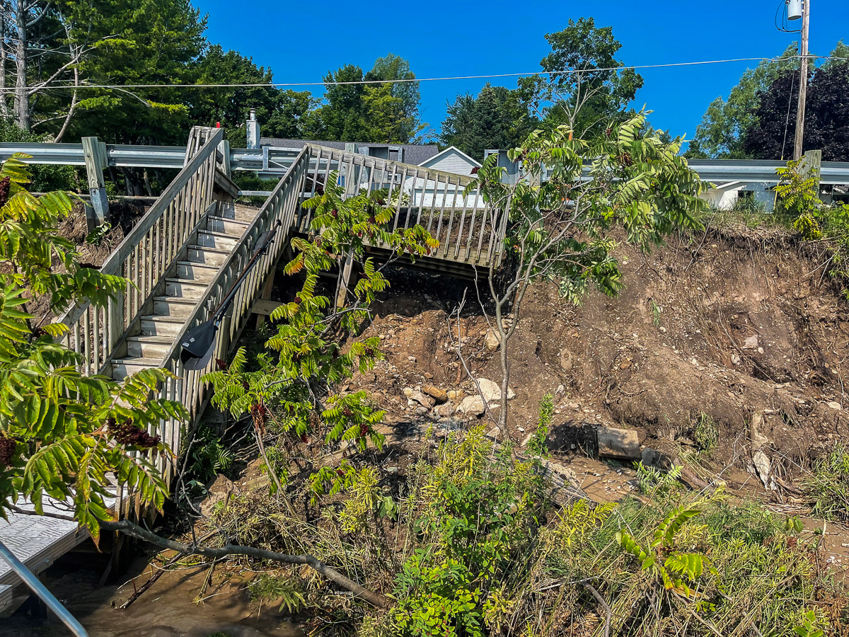 Center Road Erosion on the Old Mission Peninsula | Kennedy Photo